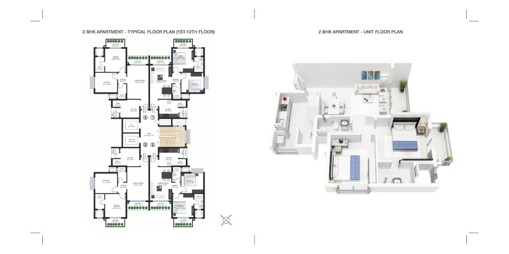 CARMEL 2 BHK LAYOUT PLAN