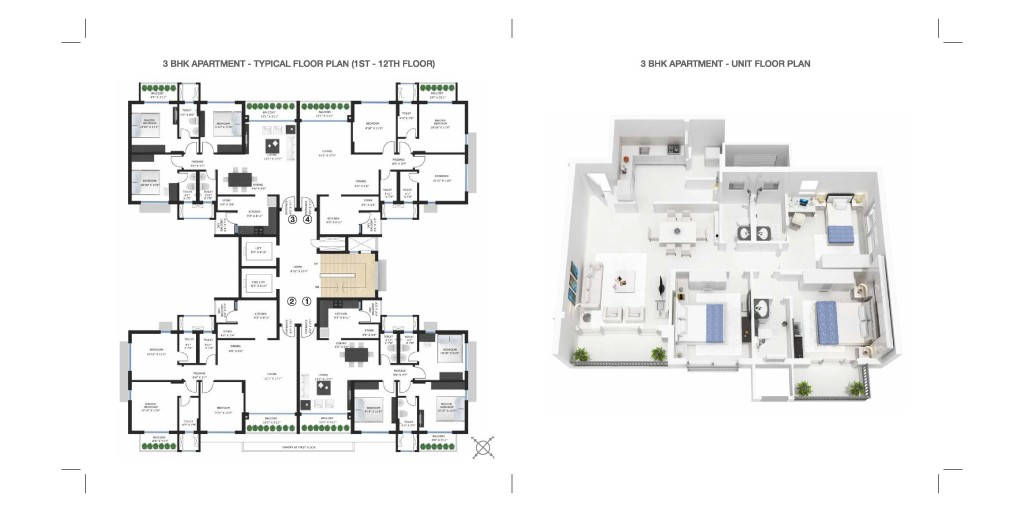 CARMEL 3 BHK LAYOUT PLAN